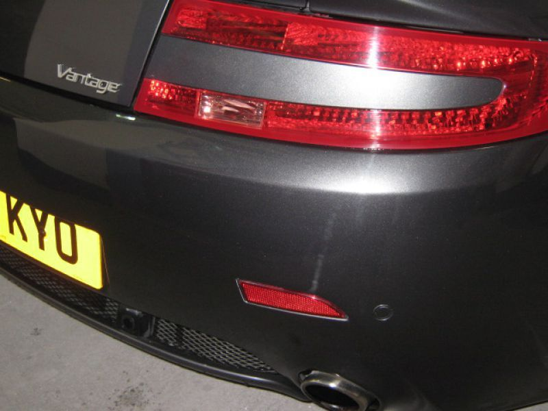 Aston Martin Bumper Scuff and Car Body Repair by Scratchmaster in Nottingham (AFTER): Swipe To View More Images