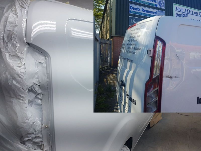 Van Body Repairs in Nottingham by Scratchmaster: Swipe To View More Images