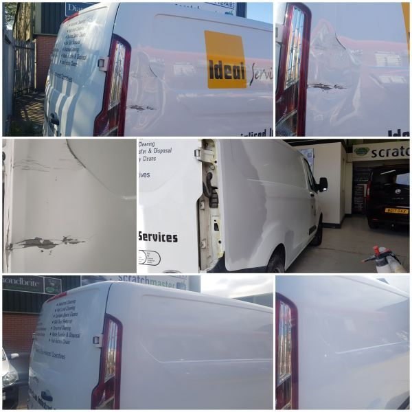 Van Body Repairs in Nottingham  (BEFORE & AFTER) by Scratchmaster: Swipe To View More Images