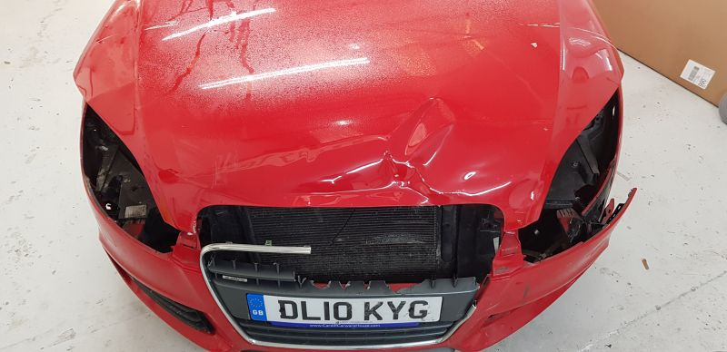 Audi Car Body Repair at Scratchmaster Nottingham (BEFORE): Swipe To View More Images